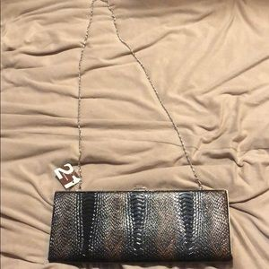 Women's snake skin clutch bag NWT